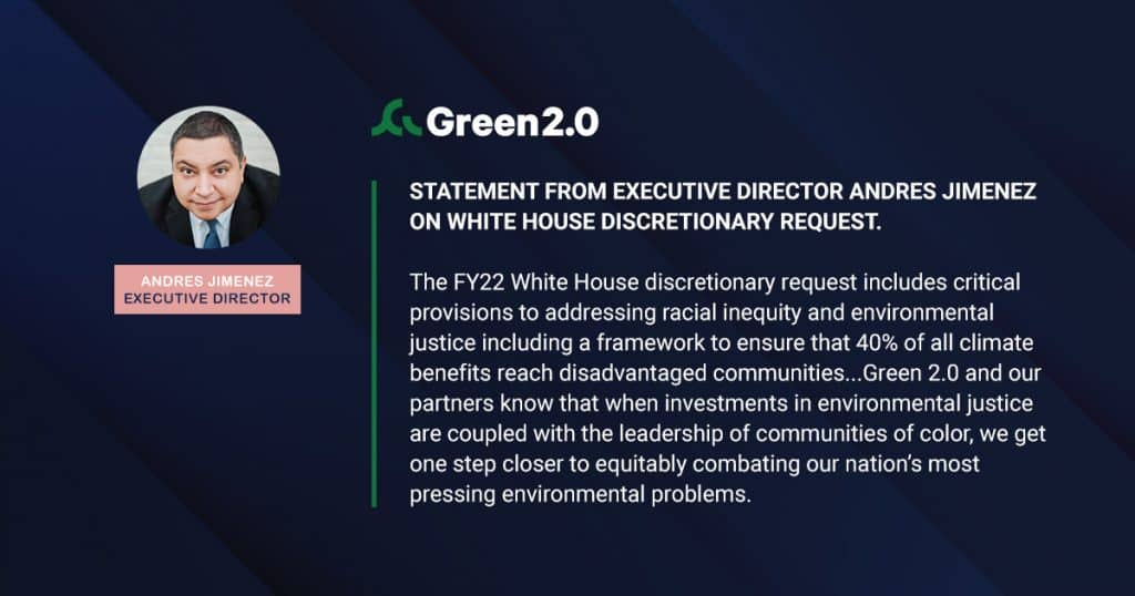 Statement from Executive Director Andres Jimenez on White House Discretionary Request.